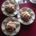 great Combination salad in HCM Cooking school