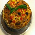 Linguine ai frutti di mare in crosta di pane