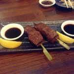 Steak on a stick at the Japanese restaurant - fantastic!