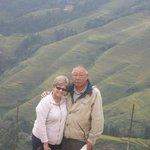 Carol and Tom at Longji Rice Terraces.