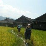 Sabrina and Alessio at Longji rice terraces area.