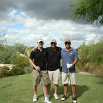My brothers and I before heading out at Troon North