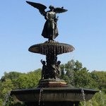 Angel of the Waters fountain in Central Park