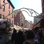 Entrance to Little Italy during Saints Festival