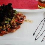 prawn salsa appetizer