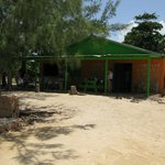 The refreshment/snack hut on the beach