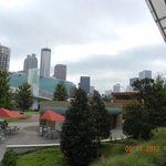 View From the Covered Walkway Of City