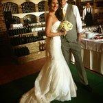 wedding reception in wine cellar