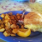 Potatoes and Omelet Sandwich