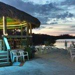 Tiki Bar and Beach Area During Sunset