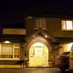 Front of the B&B at night