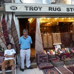 Mustafa, Gengis and cat of Troy Rugs, Istanbul
