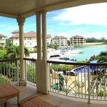 Deck overlooking the marina