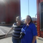 My Sister and I on The Golden Gate Bridge ~by the South Tower