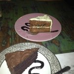 carrot cake, chocolate cake. Hummingbird is delicious too...