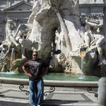 Our awesome Tour Guide, Magdi, then showed us the site of Rome's 1st Olympics, Piazza Navona.