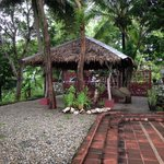 The bungalow in front of the house