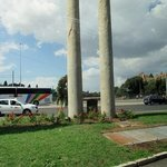 Magdi explained Rome's tribute to USA's 9/11...two columns, exact in size representing the Twin