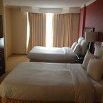 double beds in corner suite