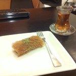 Kunafa Roll and Tea