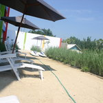 Sunbathing area in JEPARA BEACH HOTEL