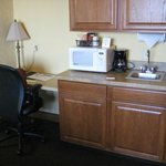 kitchenette area with desk--free wifi too