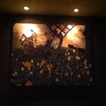 great food awesome service! this oil painting inside was beautiful