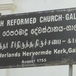 sign outside the church