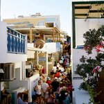 Outside the gate of Oia's Sunset - busy because of the cruise ship arrival, great area nonethele