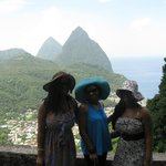 View of the famous Pitons
