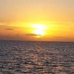 Romantic sunset aboad the carnival catamaran