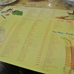Menu with English & Chinese