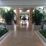 Entering the Grand Wailea lobby