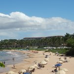 Beach area in front of the Grand Wailea