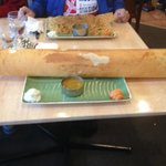 The huge Paper Masala Dosa