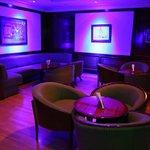 Lobby level sports bar