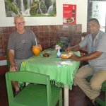 cool natural coconut juice with my taxi driver