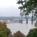 panorama della città dal parco