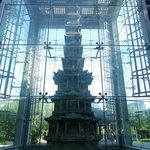 Pagoda enclosed in Glass structure