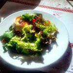 Warm goats cheese salad (1/2 portion - already shared)
