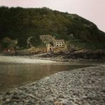 Steep Holm, a view of the Inn from the goose neck at low tide.
