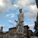 Neptune's statue.