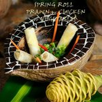 SPRING ROLL  PRAWN or CHICKEN or VEGETABLES