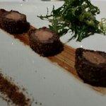 jarret de boeuf au foie gras et pain d'épices
