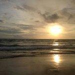 Karon beach at dusk
