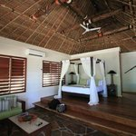 Master bedroom in beachfront villa