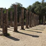 The palaestra is building in ancient Greece devoted to the training of wrestlers and other athle