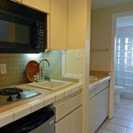 1 and 2 bedrrom villas kitchen area, fully refurbished and equipped.