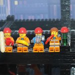 Lego Figures in Skyline Bar Display