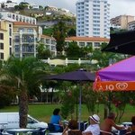 snack bar at Lido with Porto Mare hotel behind
